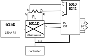 Figure 6-Shunt Calibration using the 6010D/6242D and 6511D