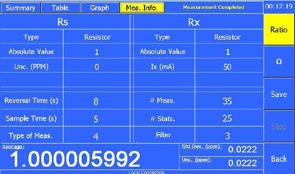 Measurement Info Tab