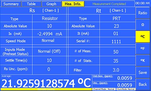 Measurement Information
