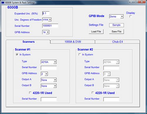 System & Rack Settings
